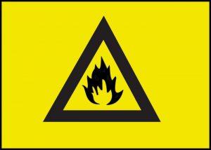 Warnschild Feuer Brennbar