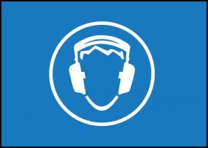 Warnschild Gehörschutz tragen