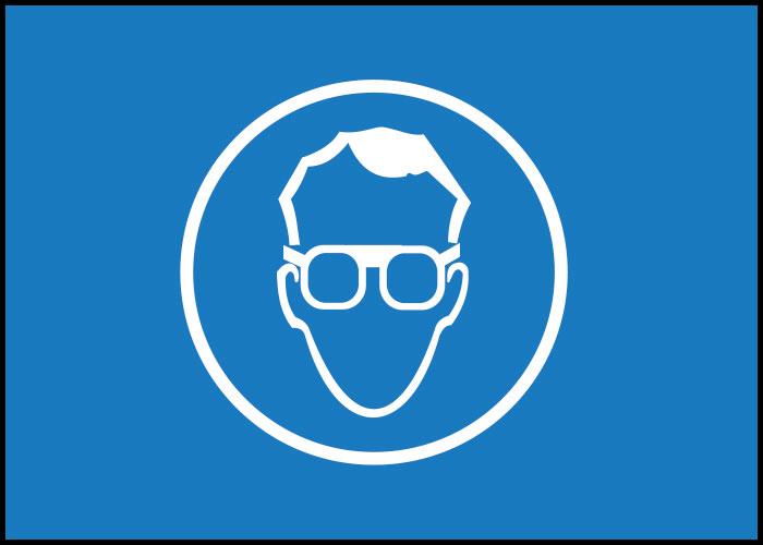 Warnschild Sicherheitsbrille tragen