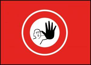 Warnschild kein Durchgang